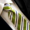 Sage Stripe Men's Polyester Necktie