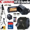 Canon Vixia HF20 HD 32GB 15X Optical Zoom Dual Flash Memory Digital Camcorder Accessory Bundle
