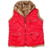 [LEAP]Girls'  full shell reversible vest(Child garment,child wear)