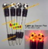 light up soccer pen with red Led light