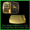 Golden John Deere fahsion belt buckle, hip hop belt buckle