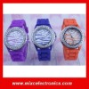 Wholesale Luxury geneva Zebra silicone jelly watch with 9 colors