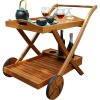 Outdoor serving cart for bars