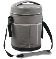 Unique Round Six Pack Bottle Wine Cooler Bag
