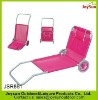 Outdoor camping beach folding chair with wheel