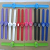 Weiying high quality paipai kids silicone slap watch 2012