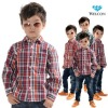 European style latest brand design 100% cotton long sleeve new fashion kids shirts for boys