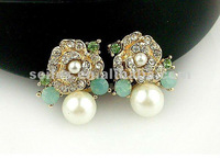 2012 New Hot Sale Fashion Earring Pearl earring charming earring fashion jewelry,nickel free fashion jewelry