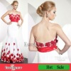 Floor-length mermaid lady dress white satin with appliques cocktail dresses 2012