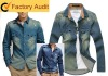 latest shirt design for men 2012~man shirt~denim shirt wholesale