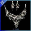 Leaf Necklace Earring Set Black Crystal Noble jewelry set austrian crystal necklace sets jewelry