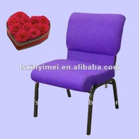 Purple Fabric Steel Theater Chair XYM-G101