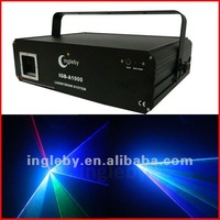 1w RGB animation laser light with X-Y display system