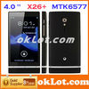 X26+ MTK6577 Smart Phone Android 4.0 Dual Core 3G GPS 4.0 Inch black white red