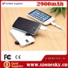 High Quality 2900mAh Power bank for iphone/ipod/Samsung/HTC/Blackberry/psp