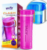 600ml double-layer plastic water bottle with handle