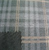 TC bronzing check suede fabric for fashion