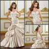 Noble Charming Sweetheart Appliqued Lace White Wedding Dress