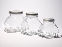 glass storage jars series with caps