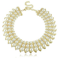 Fashion Fake Pearl Bead Necklace