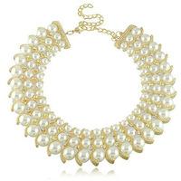 Fashion Fake Pearl Bead Necklace