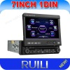 1 din 7 inch car digital touch screen dvd player with Bluetooth&ipod
