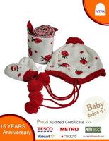 children's jacquard hat scarf glove set
