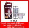 9oz Stackable Mug with Rack for Ceramic Coffee Mug & Tableware