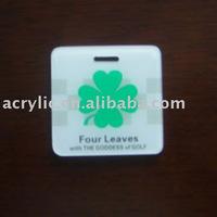 Plastic golf bag tags