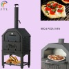 Freestanding wood fired pizza oven