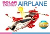3D wooden solar power toy plane