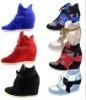hotsale women high heel sneakers, high heel sports shoes
