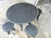 Top Enduring Slate Stone Furniture Set Tea Table & Bench