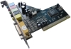 6 channel sound card with C-Media 8738 chip set