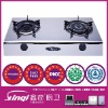 built in 2 Brass burners gas cooker