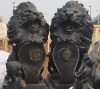 bronze sculpture lion