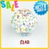 wholesale 10mm crystal pave shambhala beads disco ball AB color beadings