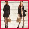 Chinese women winter dress coats black clothing