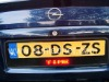 European led license plate flash frame