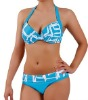 Padding and folded waistband women bikini swimwear