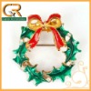 2012 Christmas Gift! X-Mas Wreath Brooch Pin 060049