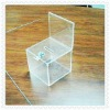 acrylic business card box with sign holder