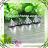 hotsale shiny silver cone shape spike beads