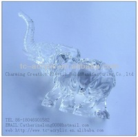 factory directly 2012 new design acrylic acrystal elephant aniaml shape figurine