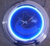 Neon Wall Clock With Chrome frame