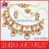 wholesale 2012 Latest indian peacock crystal necklace set