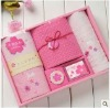 Cherry blossoms Gauze towel five suit group gift set