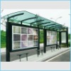 Tembered bus shelter glass