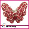 Fashion Crystal Red Butterfly Brooches and pins