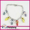 Fashion magnetic silver bracelet with shoes